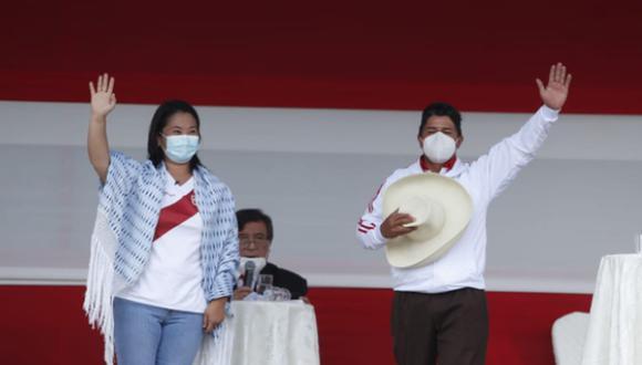 La lideresa de Fuerza Popular indicó que en un eventual gobierno a su cargo se implementará el denominado Bono Oxígeno, con la finalidad de otorgar una ayuda a las familias de aquellos que perdieron la vida por la covid-19. (Foto: Hugo Pérez / @photo.gec)