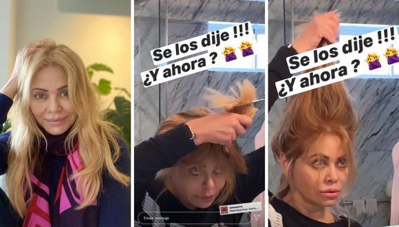 Gisela Valcárcel decidió cortarse el cabello al mismo estilo que Janet Barboza