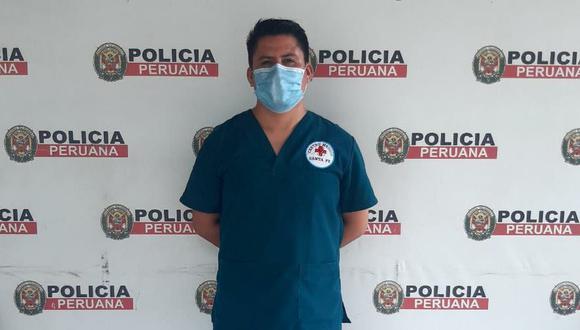El falso médico fue identificado como Lizandro Godoy Tarazona (35).
