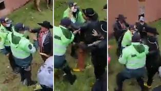 Policías son agredidos físicamente por ronderos que no querían usar mascarilla