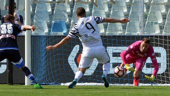Serie A: Juventus gana en Pescara y se escapa a 8 puntos de la Roma