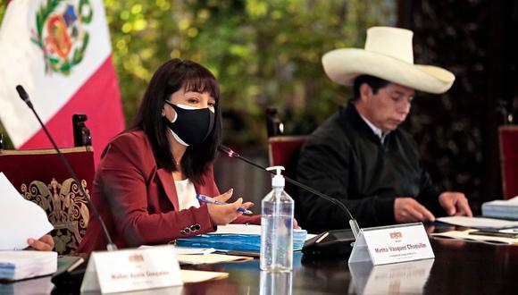 Mirtha Vásquez dirigió la primera sesión del Consejo de Ministros desde que asumió el cargo. (Foto: PCM)