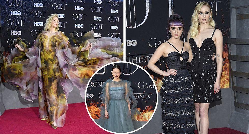 Game of Thrones: estos fueron los looks usados por las estrellas durante estreno de última temporada