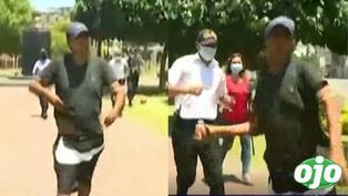 Hombre que incumplía el toque de queda ataca con una piedra a periodistas de Latina que lo filmaban