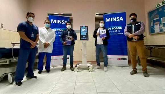 La entrega de ventiladores se dio para que los dos nosocomios tengan mayor capacidad de atención de casos COVID-19.  (Foto: Minsa)