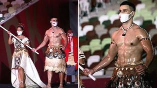 Tokio 2020: Abanderado de Tonga enamoró a todas en desfile inaugural