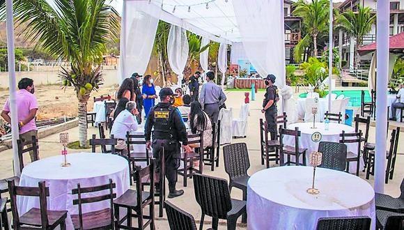 Tumbes: las autoridades llegaron hasta el hospedaje Costa Beach, ubicado en el centro poblado de Bocapá.