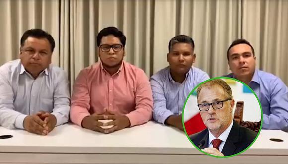"""Alcaldes de Lima Norte le dan la espalda a Jorge Muñoz: """"no a la corrupción"""" (VIDEO)"""