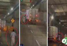 Camión sin conductor y en movimiento desata el terror en la Línea Amarilla | VIDEO