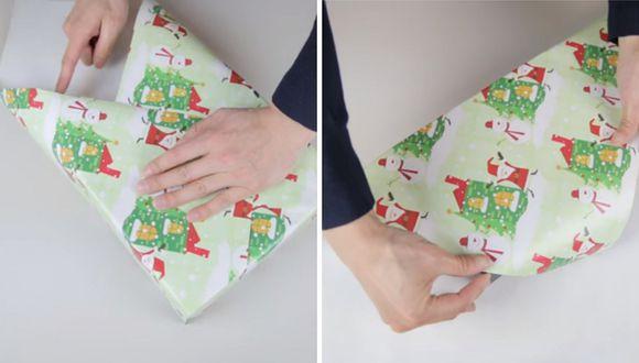 La técnica más fácil para forrar los regalos de Navidad de una manera original
