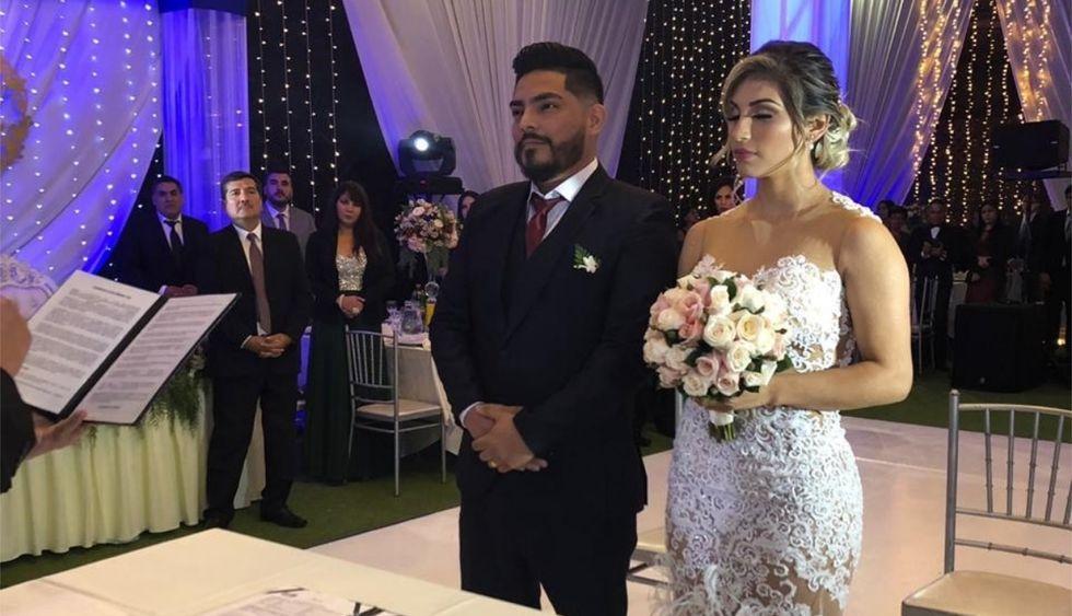 Erick Elera se unió a Allison Pastor en matrimonio civil y religioso. (Foto: GEC)