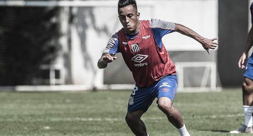Christian Cueva a vuelto a entrenar en Santos FC, pero no con el plantel principal. (Foto: Ivan Storti / Santos FC)