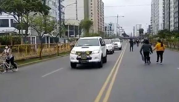 Se reportó un incidente donde estarían involucrados vehículos del Estado. (Video: @Jorgeayulo)