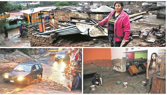 Huaicos azotan y bloquean Lima