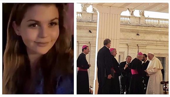 Brunella Horna viaja a Italia con Richard Acuña y se codea con el papa Francisco (VIDEOS)