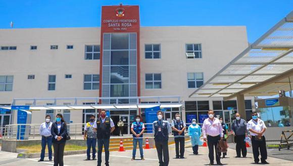Tacna: realizaron reunión en frontera con Chile para establecer protocolos de bioseguridad (Foto: Gore Tacna).