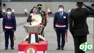 FF.AA. homenajearon a los héroes que lucharon contra el terrorismo frente al Premier Guido Bellido