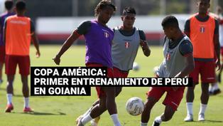 Selección peruana realizó su primer entrenamiento en Goiania con miras al duelo ante  Colombia