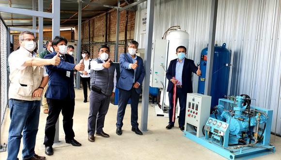La Libertad: moderna planta de oxígeno fue entregada a hospital Leoncio Prado de Huamachuco (Foto: Gore La Libertad).