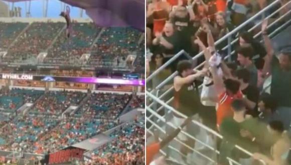 Los hechos se registraron la noche del viernes en el Hard Rock Stadium y causaron conmoción.