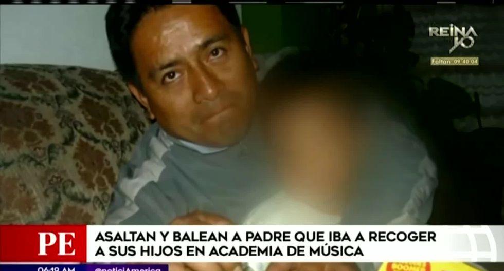 Luis Herrera fue trasladado a una clínica local. Su pronóstico es reservado. (Foto captura: América Noticias)
