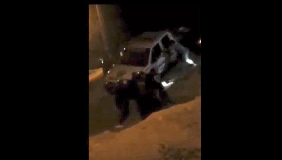 Tumbes: los agentes resultaron con heridas leves y se recuperan favorablemente. (Foto: Captura de video)