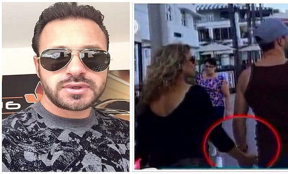 Cristian Zuárez camina de la mano con otra persona y ¡no es Adriana Amiel! (VIDEO)