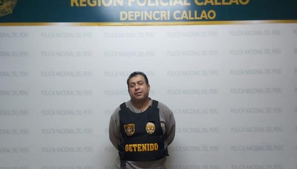 Marco Antonio Huamán Sánchez (47) fue capturado en una vivienda en La Perla, en el Callao. (PNP)