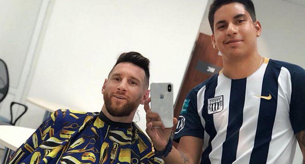 "Lionel Messi a barbero peruano: ""Esa camiseta... ¿Es de un equipo de Perú, no?"""
