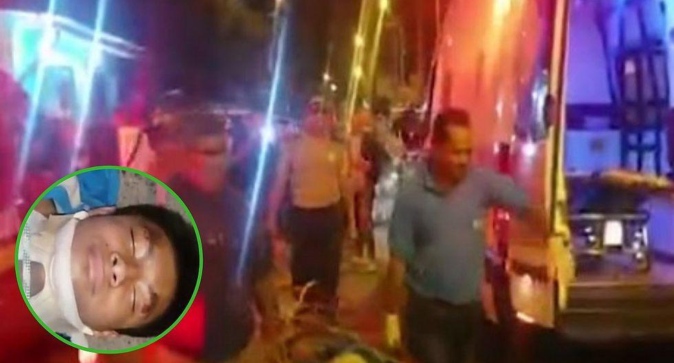 Delincuente salta de un puente para evitar ser arrestado, pero es capturado (VIDEO)