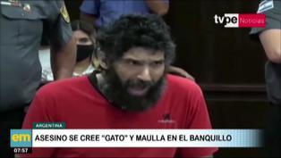 "Argentina: Asesino se pone a ""maullar"" durante audiencia penal"