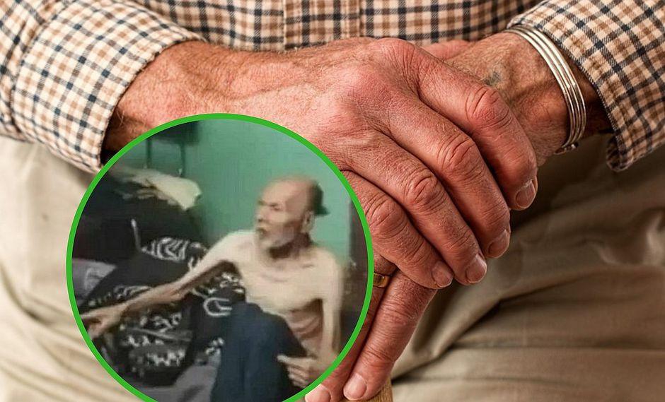 Encuentran a pareja de abuelitos en total estado de abandono