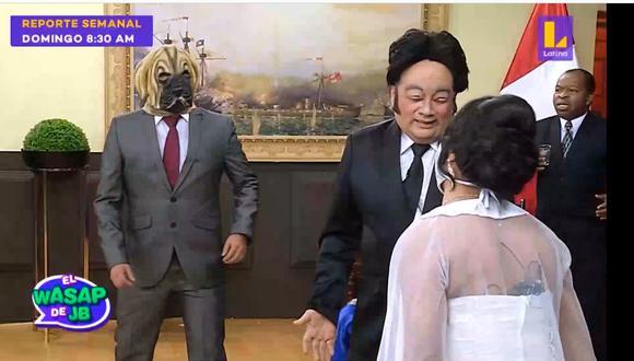 'Puñete' apareció en medio de la boda de Kenji Fujimori. (Captura: El Wasap de JB / Latuna)