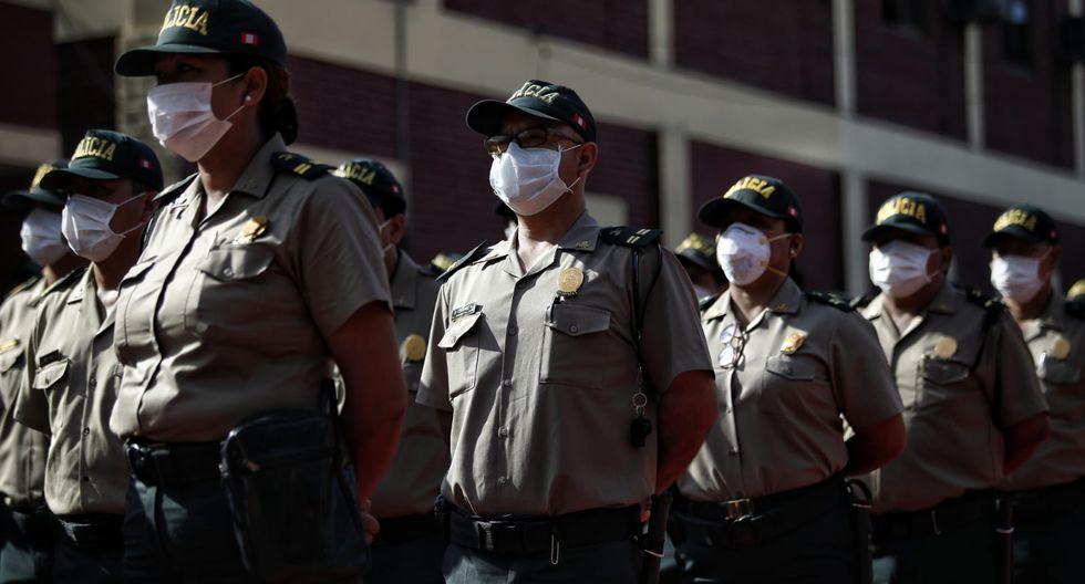 Jefe de la Región Lima informa que hasta el momento no se ha reportado caso de un policía contagiado con coronavirus. (Foto: Miguel Yovera/GEC)