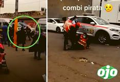 Revelan video del preciso momento en que combi atropella a fiscalizadora de ATU en El Agustino