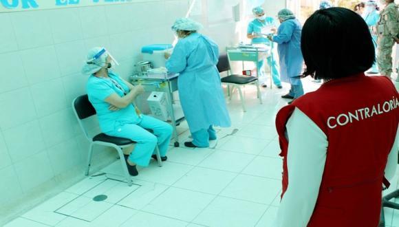 Moquegua: la vacunación de personas que no estarían considerados se habría realizado en la primera jornada de inmunización, entre el 11 al 18 de febrero. (Foto: Contraloría)