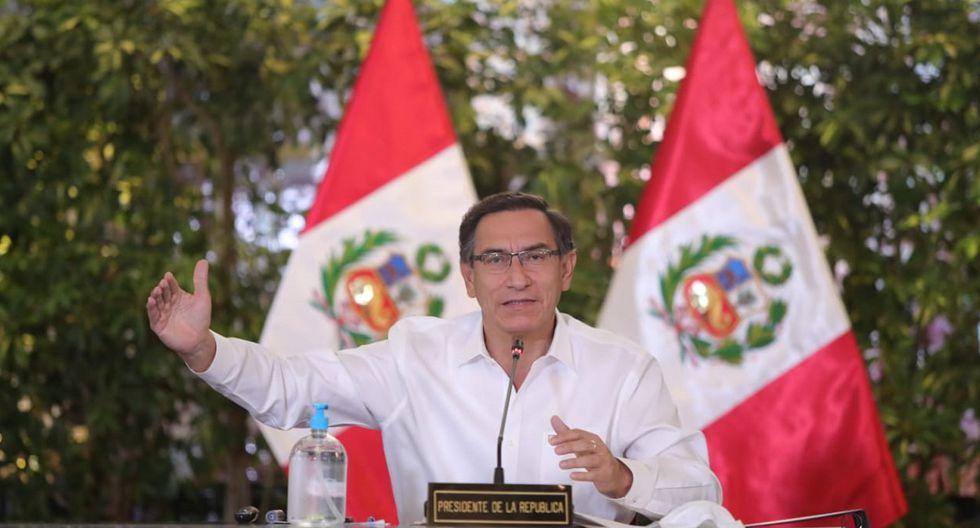 Martín Vizcarra reiteró que su gestión sancionará los actos de corrupción que se registren en el marco de la pandemia. (Foto: Presidencia)