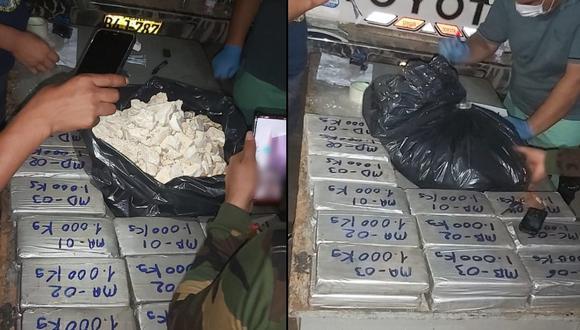 Ayacucho: 39 kilos de alcaloide de cocaína fueron decomisados y cuatro personas detenidas (Foto: PNP)