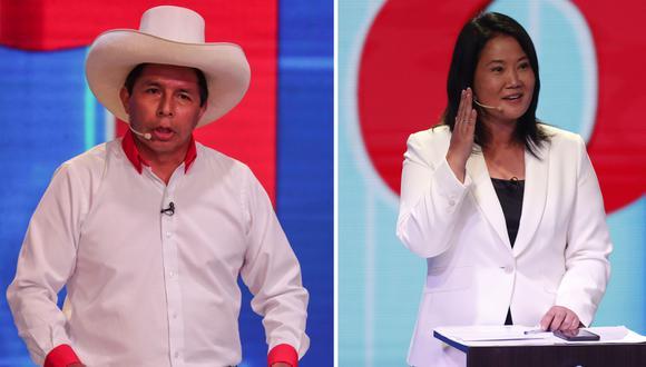 Pedro Castillo (Perú Libre) y Keiko Fujimori (Fuerza Popular) participarán en un debate en la segunda vuelta de las Elecciones 2021. (Foto: GEC)