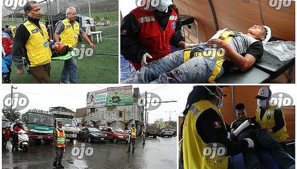 Simulacro de sismo: cientos participaron en El Agustino junto al ministro de Defensa (FOTOS)