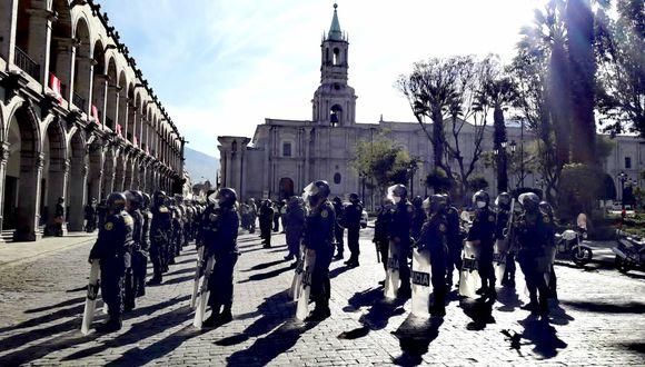 Arequipa: Policía Nacional realizó operativo de control en las principales calles de la ciudad (Foto difusión).