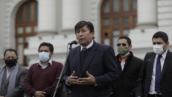 Waldemar Cerrón, hermano de Vladimir Cerrón, dijo que Perú Libre debería tener más ministros. (Foto: GEC)