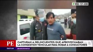 Capturan a delincuentes que aprovechaban la congestión vehicular para robar
