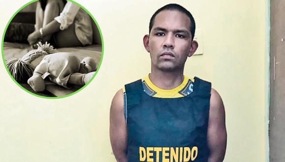 El sujeto fue detenido en la habitación de Chimbote en la que supuestamente atacaba a la menor. (Foto: PNP)
