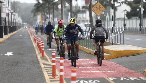 Las ciclovías han aumentado y tienen como fin único ser una pista exclusiva para aquellos vehículos sin motor e impulsados por la energía humana.  (Foto: Jesús Saucedo/GEC)
