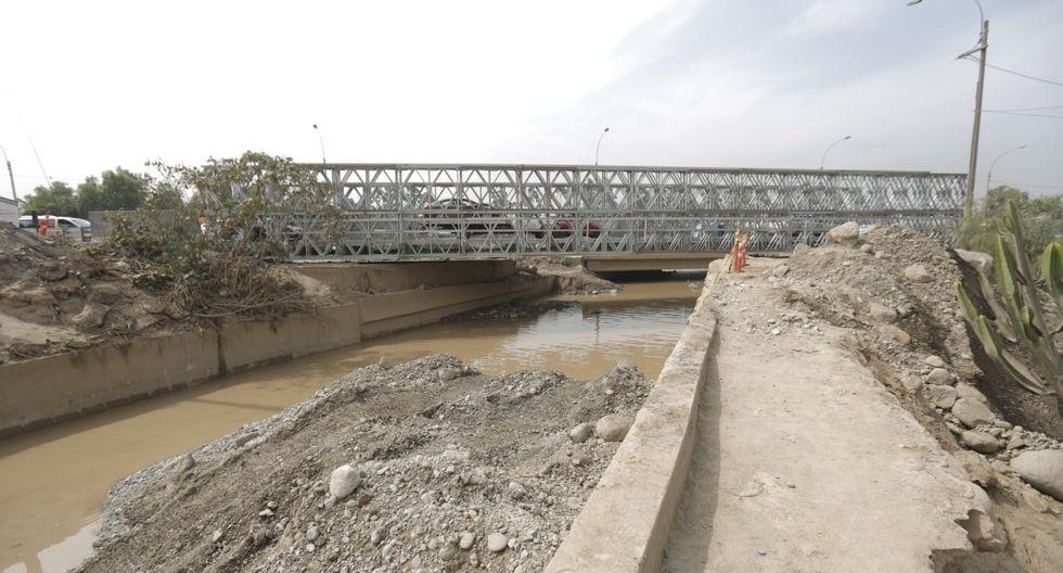 El puente bailey sobre el río Huaycoloro fue clausurado y está bajo evaluación de Emape, informó la Municipalidad de Lima. (Foto: GEC)