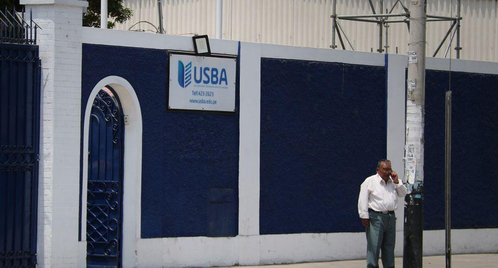 """Se identificó que el local que utiliza la USBA en Pueblo Libre no era de """"uso exclusivo"""" para el servicio académico. (Foto: Sunedu)"""