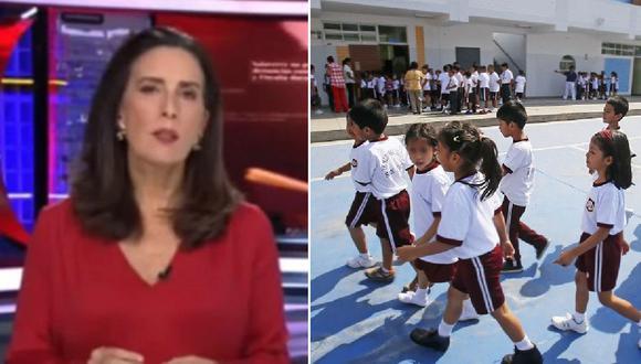 """Sol Carreño pide que niños retornen a clases presenciales: """"No asistir al colegio genera daños"""""""