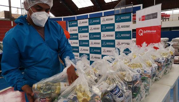 Más de 119 mil toneladas de alimentos fueron entregados por Qali Warma (Foto difusión).