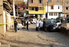 Rímac: asesinan de siete balazos a colectivero en el interior de su automóvil